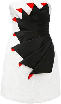 Capucci strapless folded cocktail dress