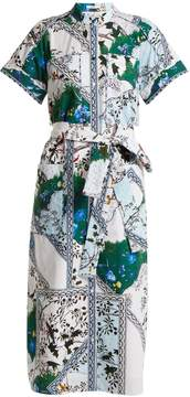 Erdem Carlita forest-print cotton shirtdress