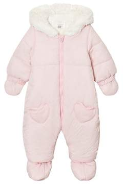 Absorba Pale Pink Spot Snowsuit with Detachable Mittens and Booties