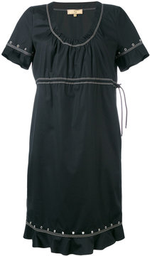 Fay studded trim contrast dress