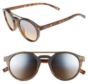 Marc Jacobs Women's 99Mm Round Brow Bar Sunglasses - Matte Havana