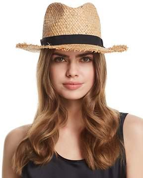 Aqua Frayed Panama Hat - 100% Exclusive