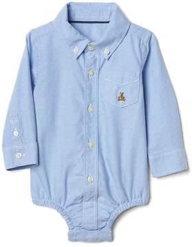 Gap Oxford button-up bodysuit