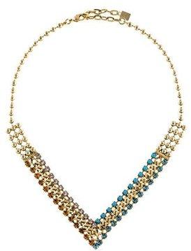 Dannijo Crystal V Chain Necklace