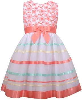 Bonnie Jean Girls 4-6x Striped Embroidered Dress