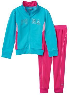 Puma Baby Girl Colorblock Glitter Jacket & Pants Set