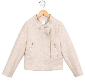 Chloé Girls' Metallic-Accented Tweed Jacket