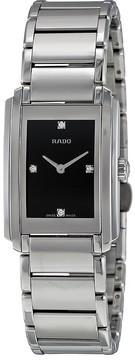 Rado Integral Black Dial Stainless Steel Ladies Quartz Watch