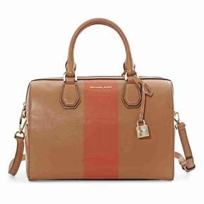 Michael Kors Medium Mercer Stripe Tote - Acorn / Orange - ACORN/ORANGE - STYLE