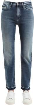 Calvin Klein Jeans High Rise Straight Cotton Denim Jeans