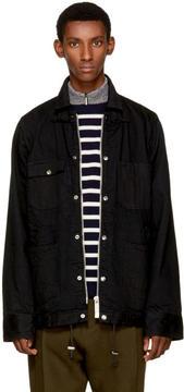 Sacai Black Denim Jacket