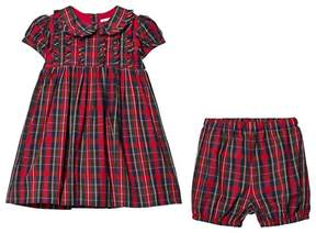 Rachel Riley Red Tartan Dress with Peter Pan Collar