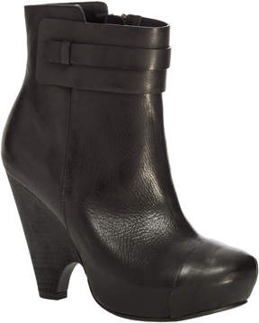 Max Studio Nestor - Burnished Leather Scooped Wedge Booties