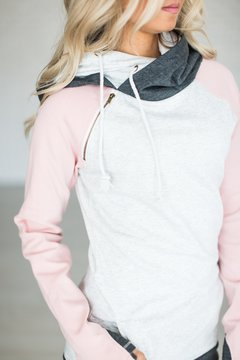Ampersand Avenue Baseball DoubleHoodTM Sweatshirt - Pink