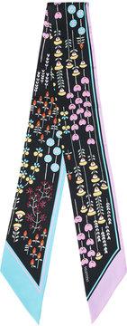 Valentino Flower Print Bandeau scarf