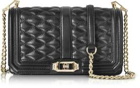 Rebecca Minkoff Black Quilted Leather Love Crossbody Bag - ONE COLOR - STYLE