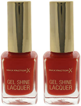 Max Factor Vivid Vermillion Gel Shine Nail Polish - Set of Two