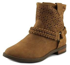 Jessica Simpson Rancho Youth Round Toe Synthetic Tan Bootie.