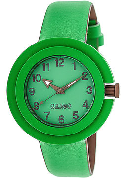 Crayo Womens Equinox Green Strap Watch Cracr2803