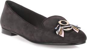 Christian Dior Slipper grey suede loafer