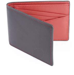Royce Leather Royce 100 Step RFID Blocking Genuine Leather Wallet - Black and Red