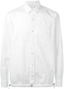 Sacai drawstring pull shirt jacket