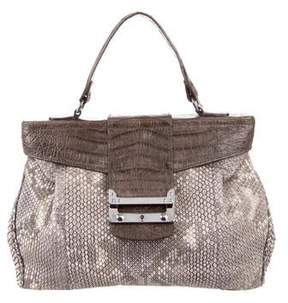 VBH Crocodile-Trimmed Python Handle Bag