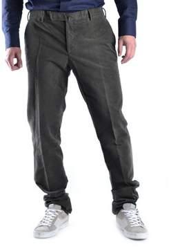 Armani Collezioni Men's Brown Cotton Pants.