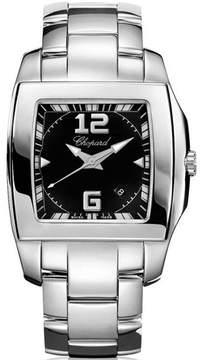 Chopard Two O Ten Black Dial Stainless Steel Ladies Watch