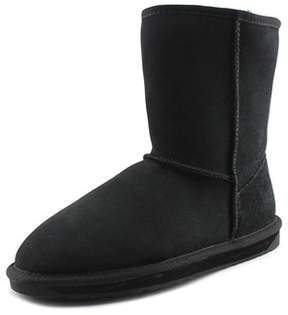 Emu Stinger Lo Women Round Toe Leather Black Winter Boot.