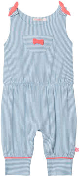 Billieblush Blue Candy Stripe Dungarees