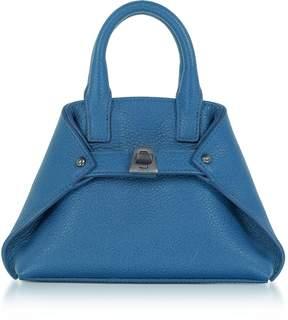 Akris Royal Blue Leather Micro Ai Messenger Bag