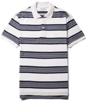 Lacoste Men's Regular Fit Bicolor Stripes Knop Piqu Polo