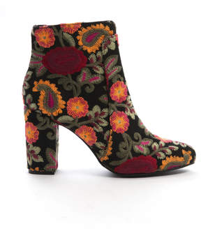 Mia Shoes Floral Embroidered Bootie