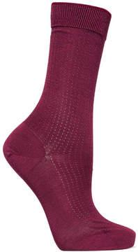 Falke No.2 Pointelle-knit Silk-blend Socks - Burgundy