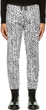 Kris Van Assche Krisvanassche Black and White Chevron Lounge Pants