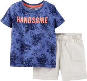 Carter's Baby Boys Handsome Shorts Set