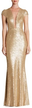 Dress the Population Women's Michelle Sequin Gown