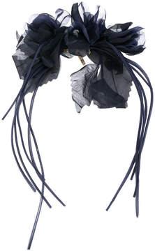 Alberta Ferretti sheer flower brooch