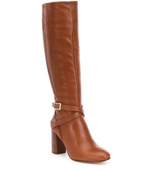 Antonio Melani Pratt Leather Strap and Buckle Harness Boots