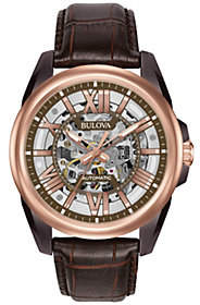 Bulova Men's Automatic Leather Strap Watch