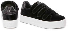 G by Guess Women's Chello Velvet Flatform Sneaker