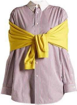 Balenciaga Contrast-collar sweatshirt detail shirt