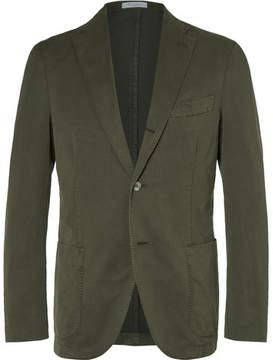 Boglioli Green Slim-Fit Stretch Cotton-Blend Suit Jacket