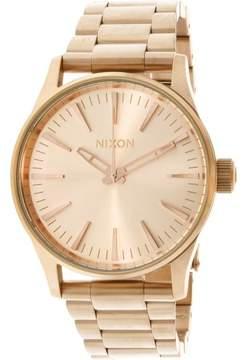 Nixon Sentry 38 Ss A450897 Rose-Gold Quartz Fashion Watch