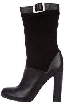 Rachel Zoe Buckle-Accented Mid-Calf Boots