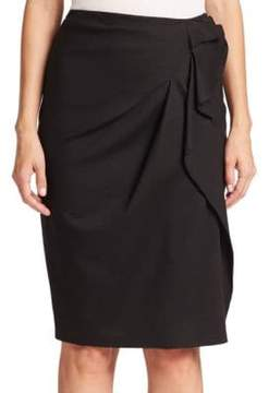 Carolina Herrera Day Collection Faux-Wrap Skirt