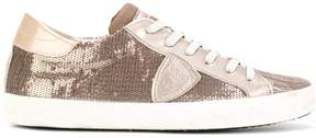 Philippe Model embellished lace up sneakers