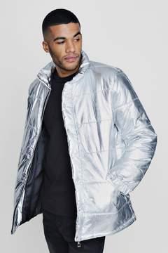 boohoo Metallic Padded Coat