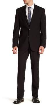 Kenneth Cole Reaction Solid Two Button Peak Lapel Suit